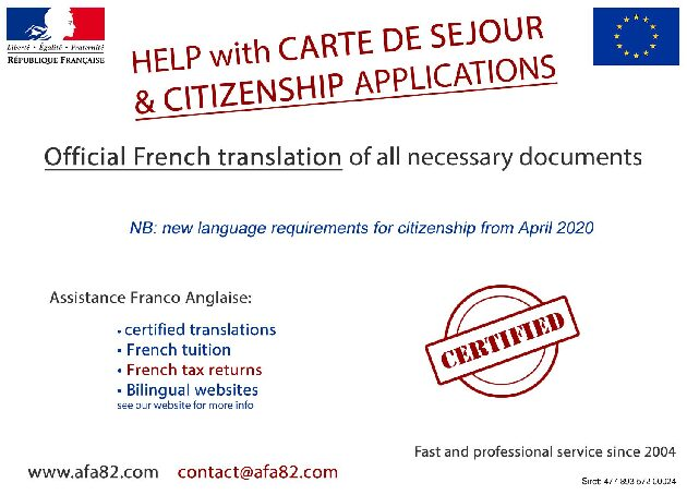 AFA82 – Translation Services – Dordogne